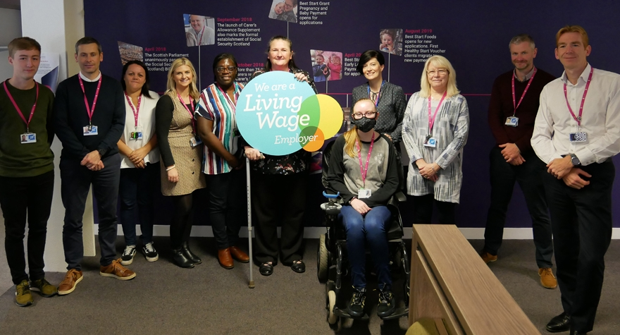 Social Security Scotland group photo for Living Wage